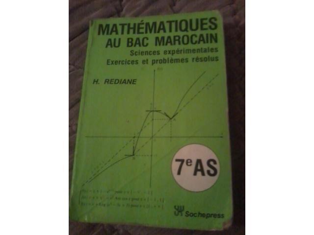Ancien livre mathématiques au bac maroca
