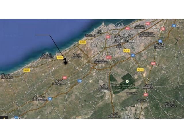 Terrain R+5 de 6.5 hectares à Errahma