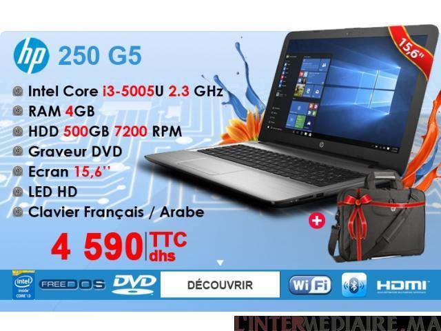 PC Portable HP 250 G5 i3-5005U Avec Saco