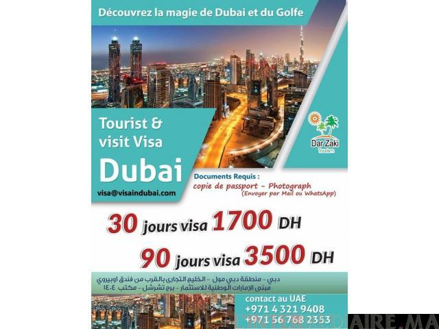 VISA POUR DUBAI !!!