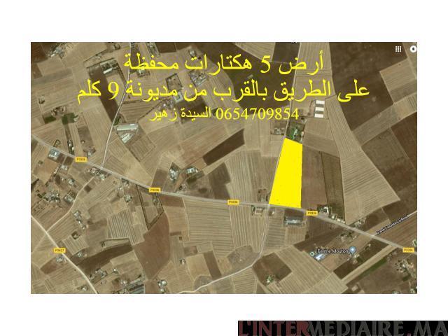 terrain de 5,5 hectares à coté de mediou