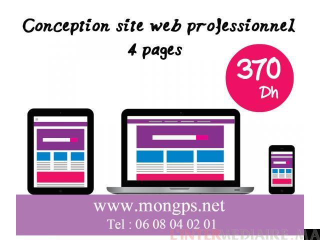 conception de site web à 370 dh