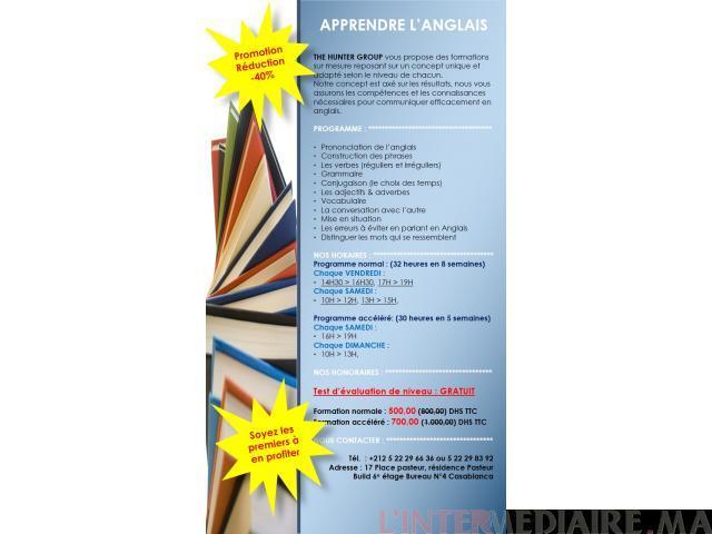 Cours en anglais