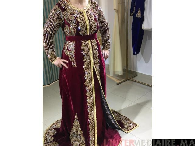 Caftan Rouge bordeau