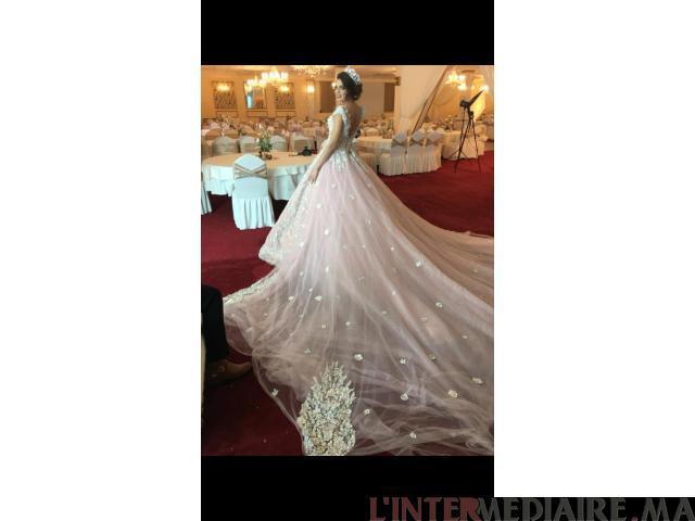 Robe de mariée Saumon