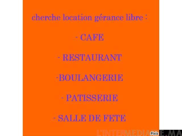 cherche café location en gérance libre