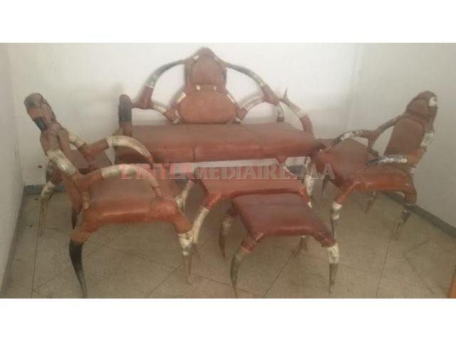 fauteuil antiquité en cuir