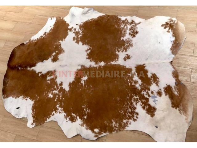 Tapis peau de vache 100% cuir naturel
