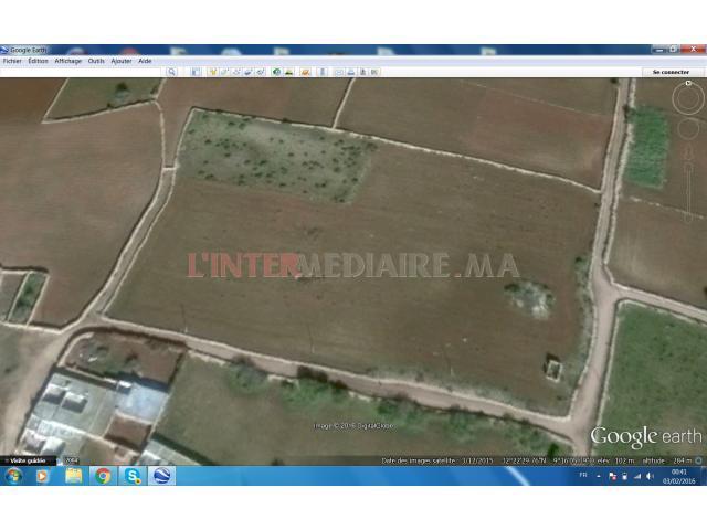 terrain agricole 9750m2 route safi lala fatna