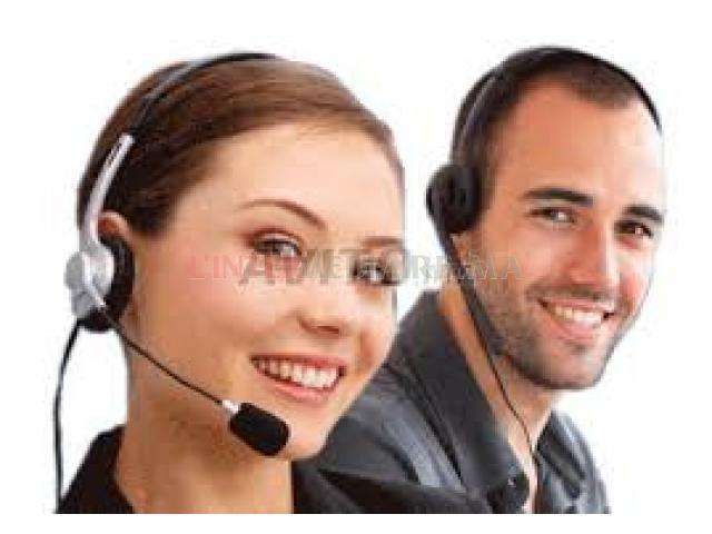 Téléconseilers en émission et réception