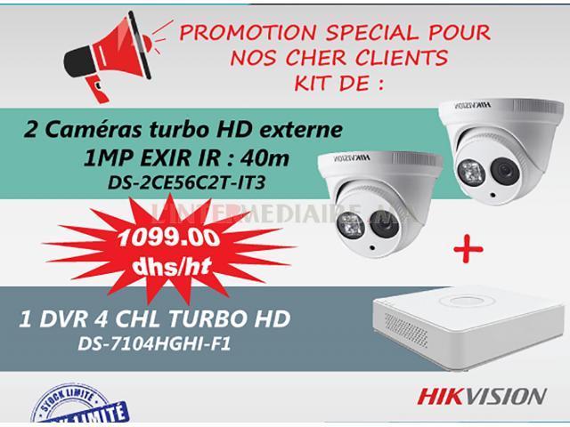 kit de 2 cameras + DVR