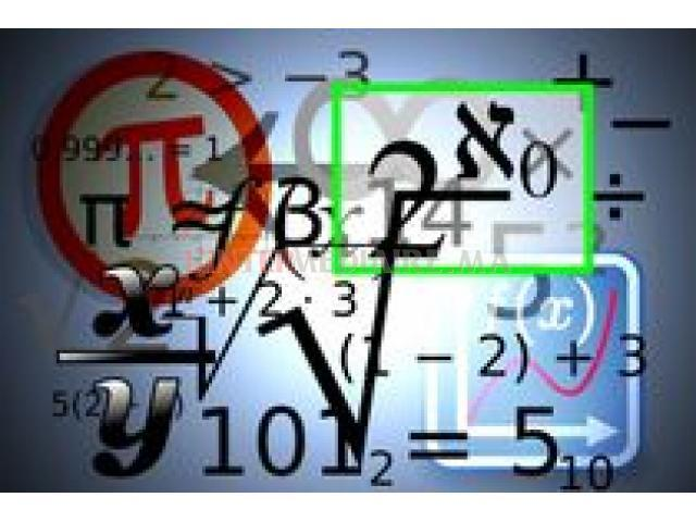 Cours de mathématiques , soutien et aide