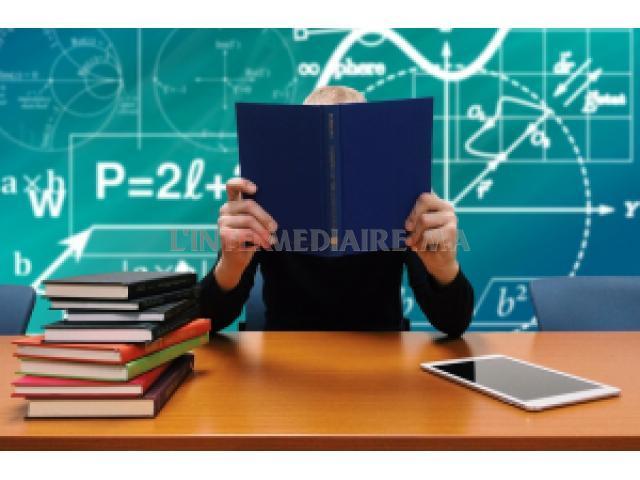 Cours particuliers en maths et physique