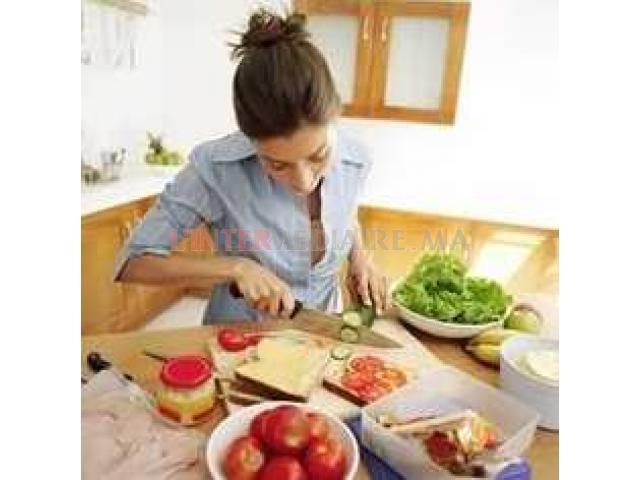 Cherche Femme de ménage cuisinière nouno