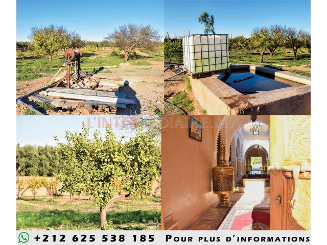 ferme à marrakech avec villa a louer