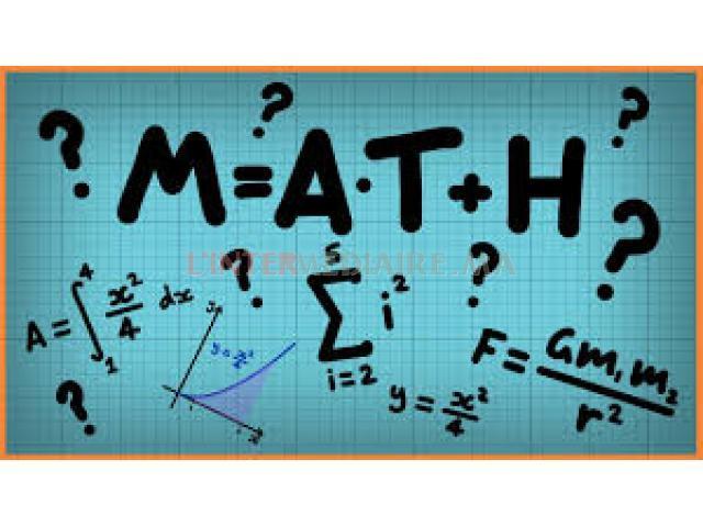 Cours de Maths à domicile !!!