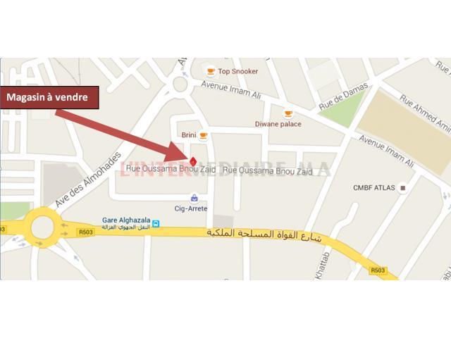 Magasin 53 m2 à vendre à Fès Agdal