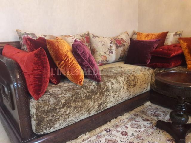 Salon marocain  BELDI bois sculpté