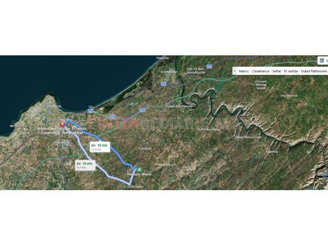 2 terrains agricoles titrés de 5543 m²