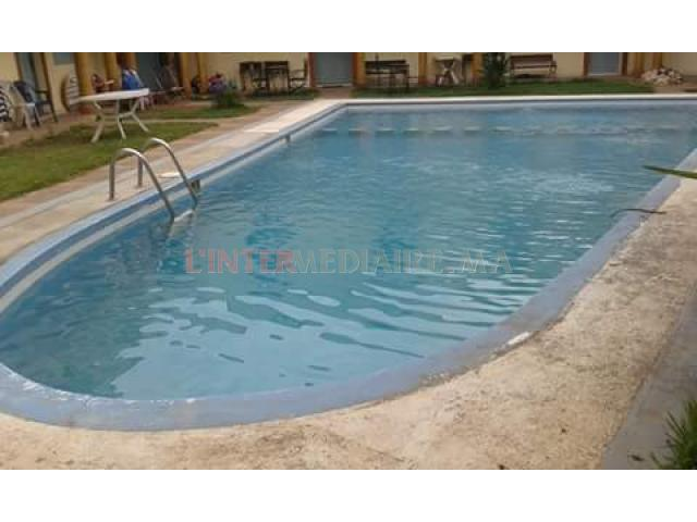 App. meublé avec piscine à la plage sidi