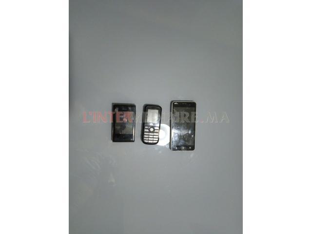 lots de 3 portables à vendre