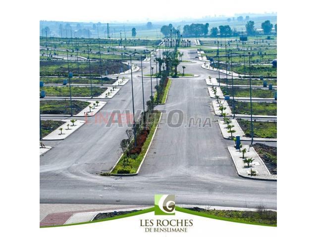 3 Lots de terrains 615 m² à BENSLIMANE