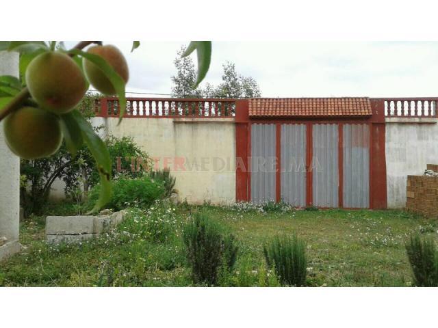 terrain avec maison  a vendre / arbaoua