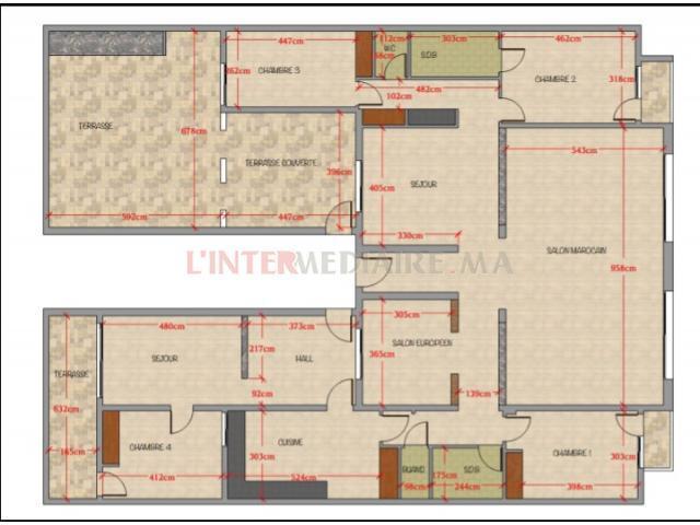 Appartement de 298 m²  à Beausejour