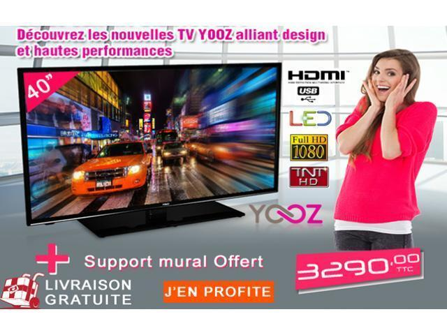 TV LED 40 PUCES + support Gratuit