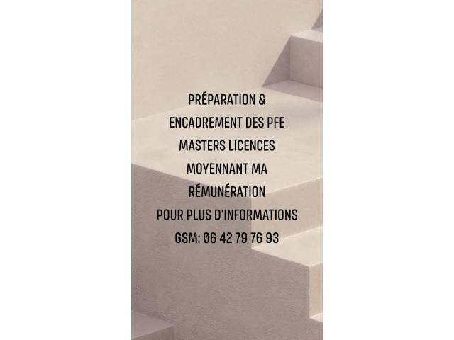Préparation & Réalisation des PFE Master