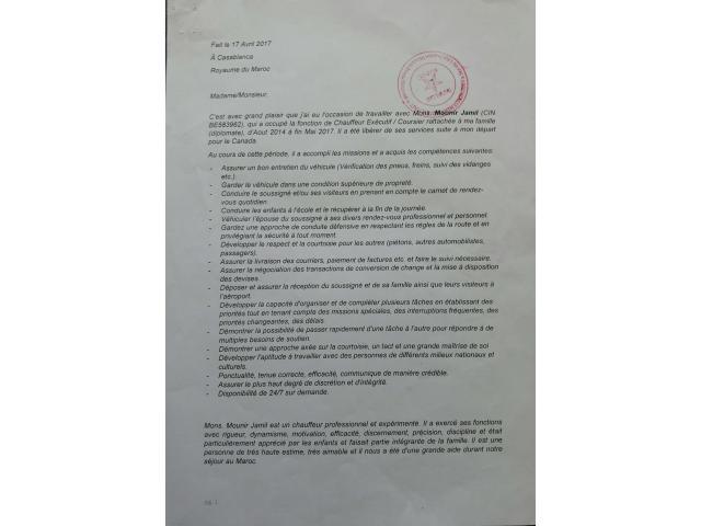 CHAUFFEUR DE CONFIANCE PROFESSIONNEL