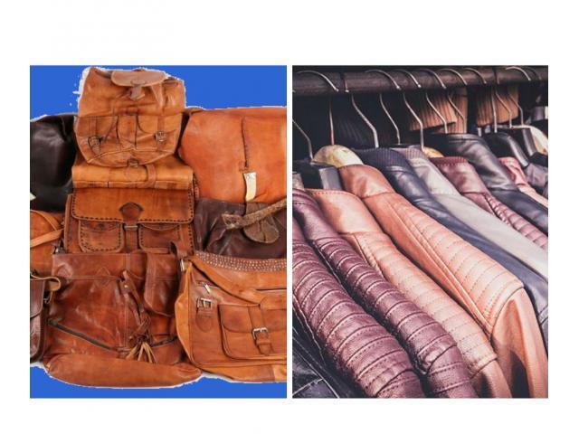 vente vêtement en cuir pour femmes