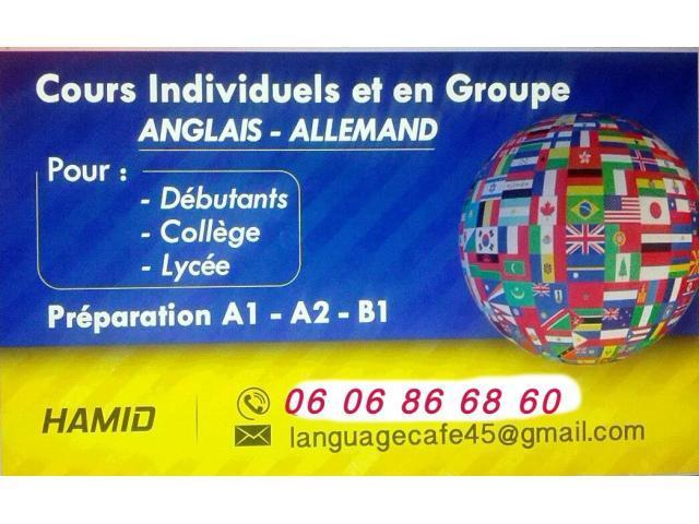 cours de langues et soutien scolaire